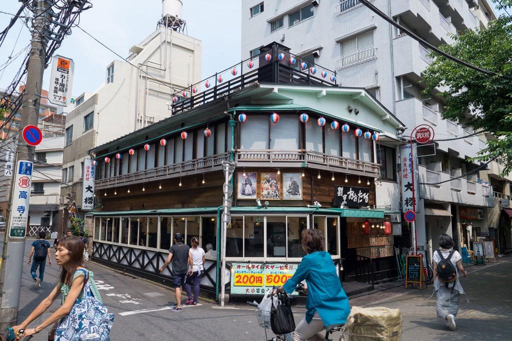An izakaya (Japanese-style pub) along the river near Naka Meguro station.