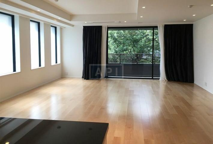 This is a brand new (2016) 138-sqm (1,485-sqft) 2-bedroom apartment for sale in the Foretseine Akasaka Hinokizaka building. List price is ¥410 million ($3.95 million). Please click on the photo to see the full listing.