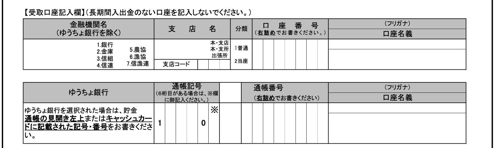 ゆうちょ 通帳 見方