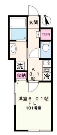 日本租屋懶人包-格局-1K-公寓平面圖