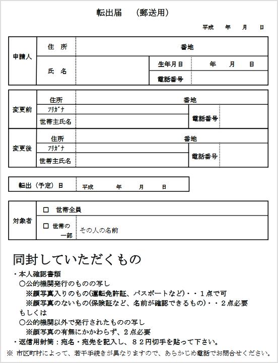 名古屋 市 住民 票 郵送