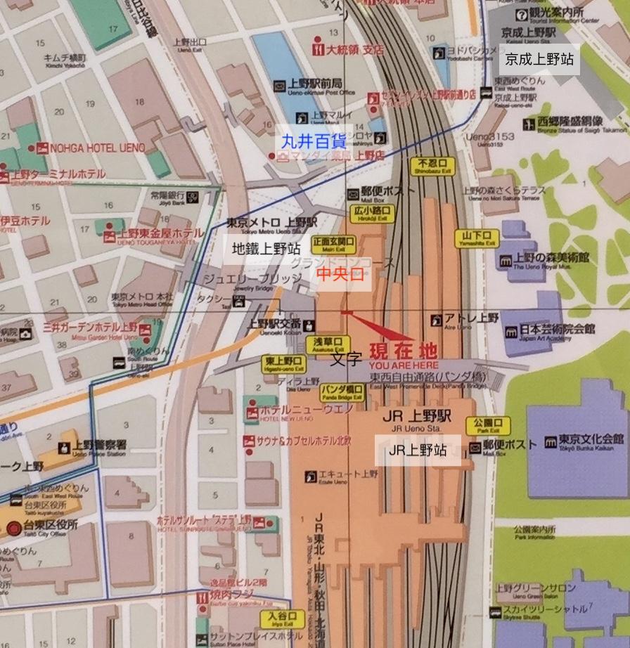JR上野車站的出口