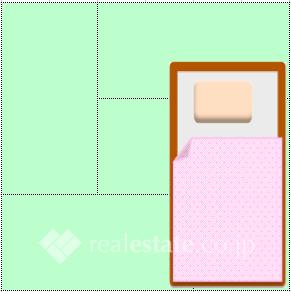 臥室4帖大的房間