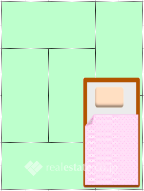 臥室6帖大的房間