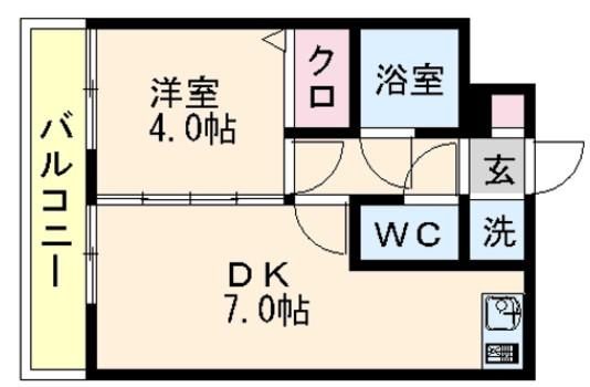 1DK-公寓平面圖-
