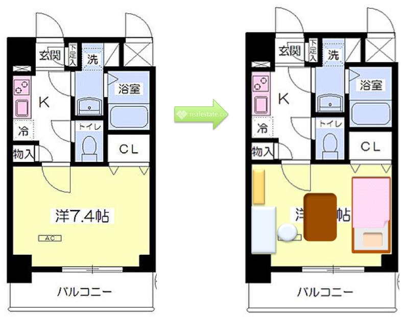 1K臥室7.4帖