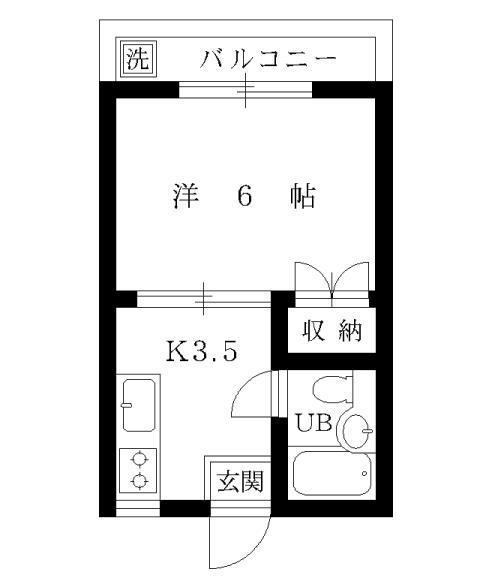 1K-公寓平面圖