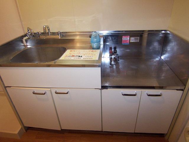 1R公寓的廚房