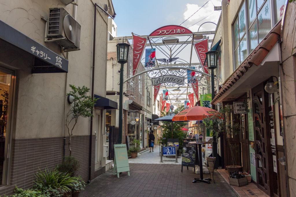 國立站南口-ブランコ通り-商店街