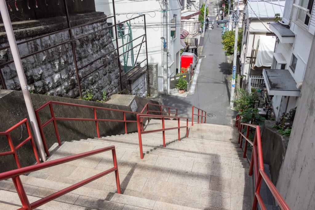 四谷須賀神社-階梯-你的名字