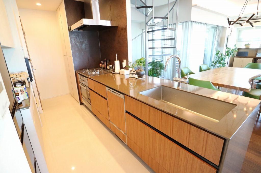 豪華公寓的廚房配備