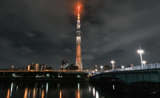 東京晴空塔的夜景