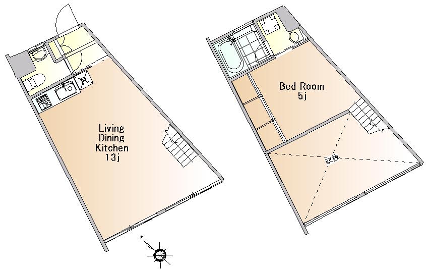 東京世田谷區的樓中樓公寓2