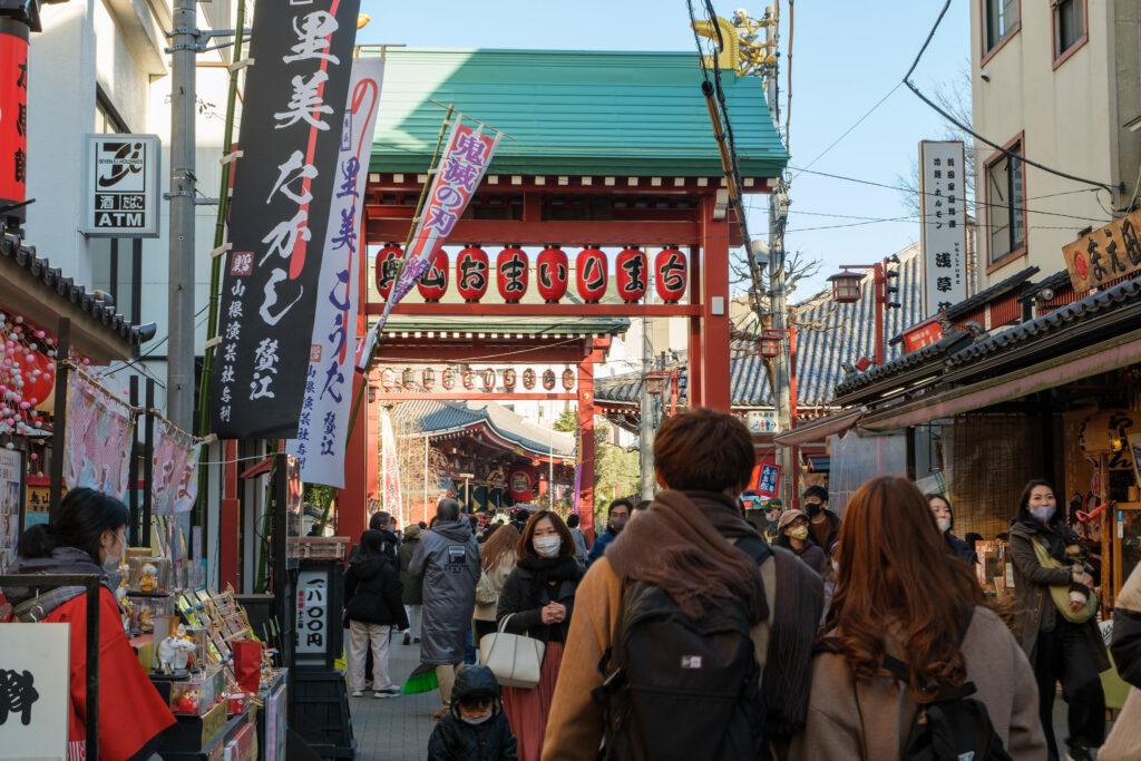 新年-淺草寺-參拜道-觀光客
