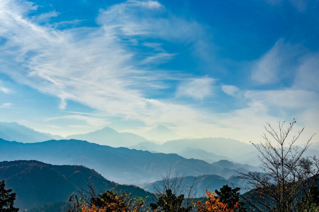 從高尾山頂眺望富士山。照片:iStock