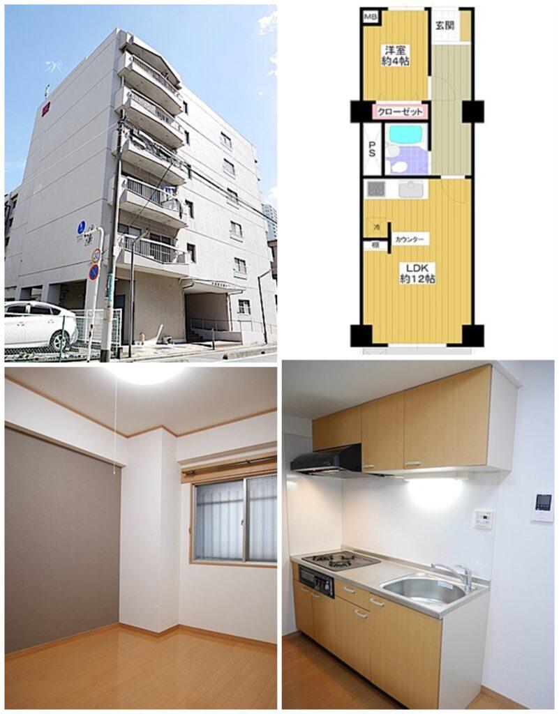 川口附帶家具家電可短期出租1LDK公寓-外觀