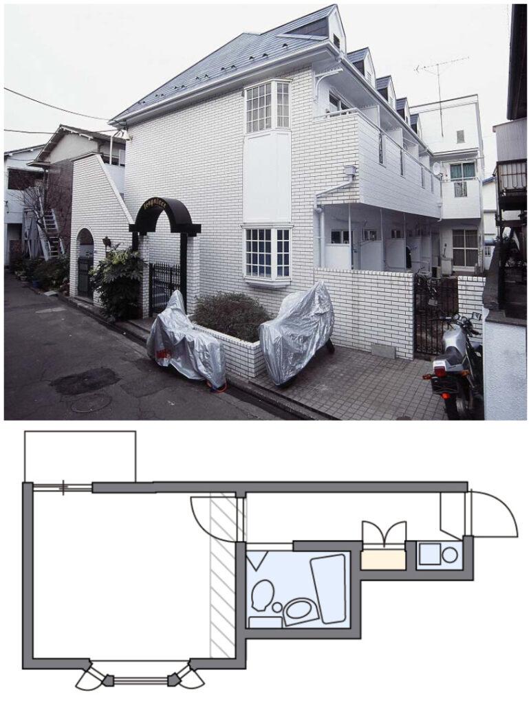 新宿附帶家具家電可短期出租1K公寓