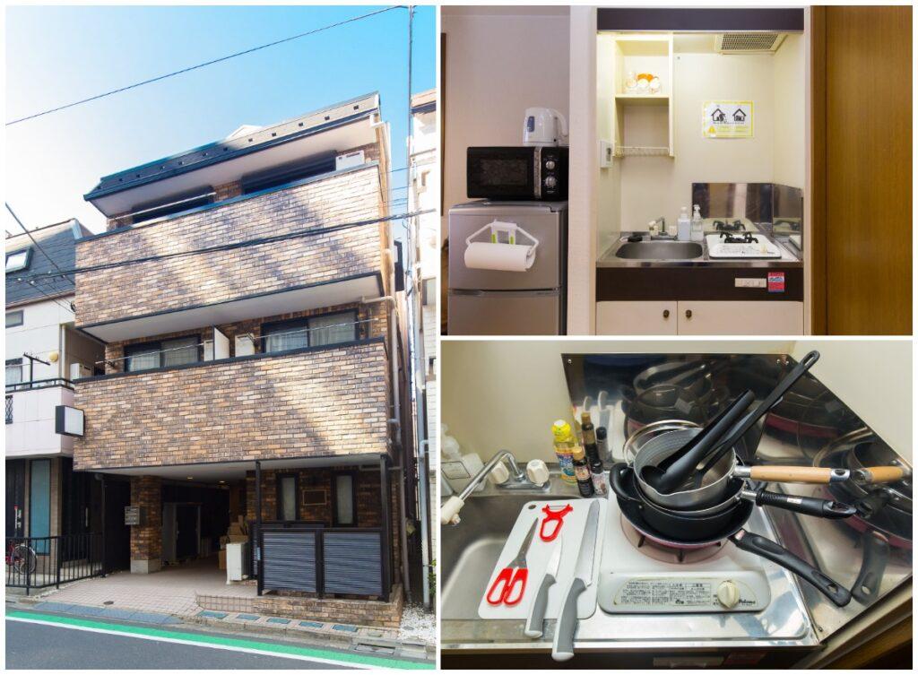 新宿附帶家具家電可短期出租1R公寓-廚房