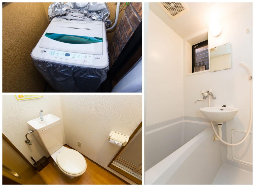 新宿附帶家具家電可短期出租1R公寓-浴室