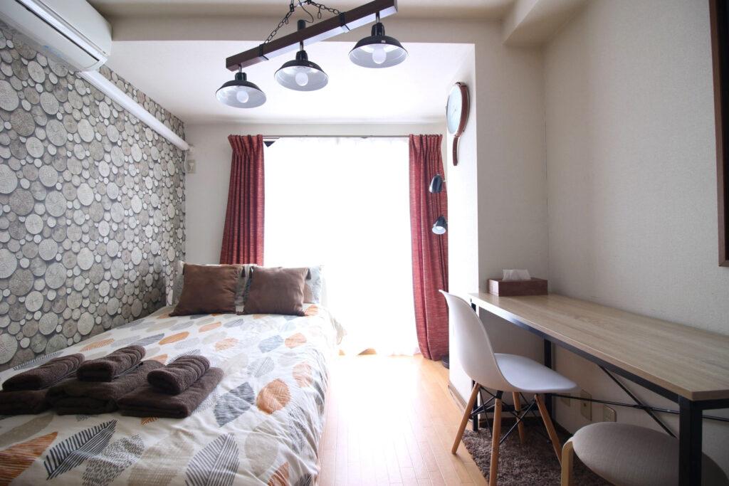 新宿附帶家具家電可短期出租1R公寓