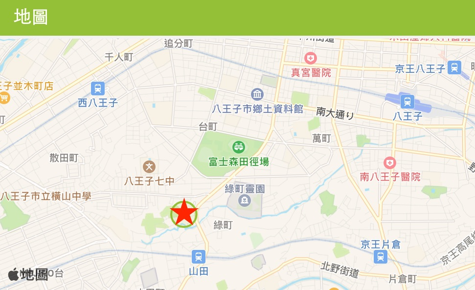 日本超激安出租公寓-八王子市1K公寓-地圖
