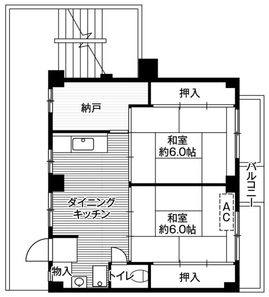 日本超激安出租公寓-船橋市2DK公寓大廈-1