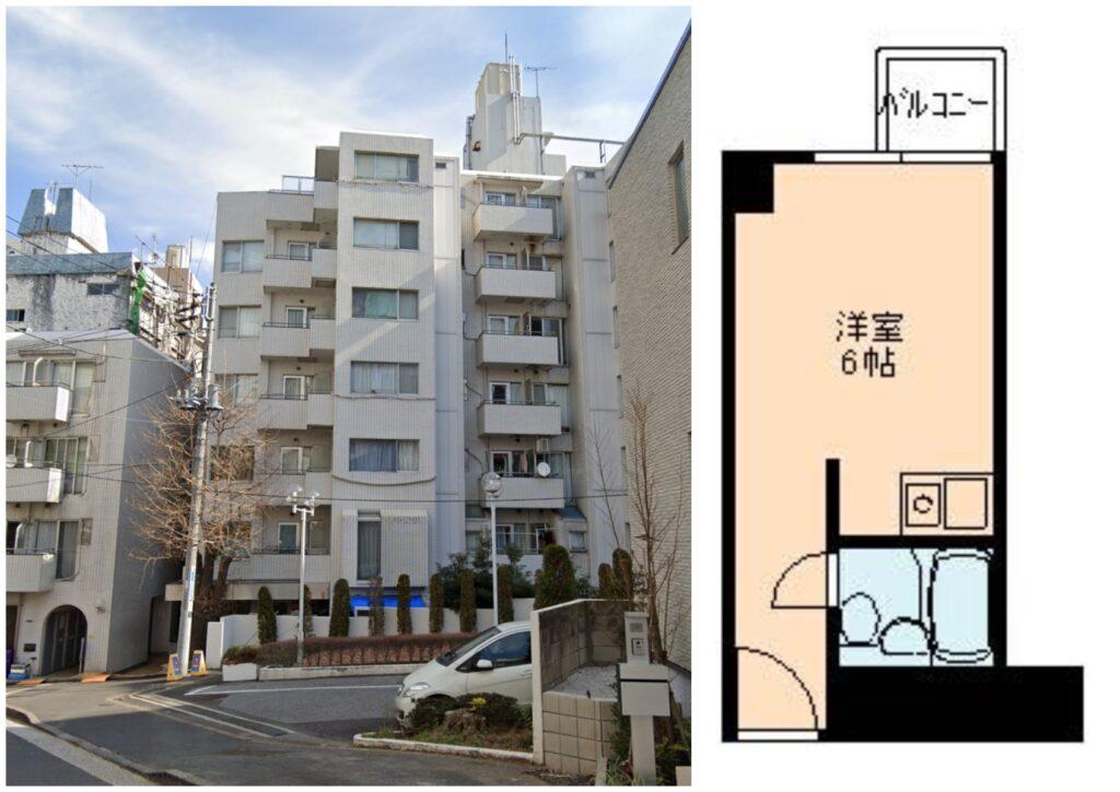 赤坂1R出租公寓-1