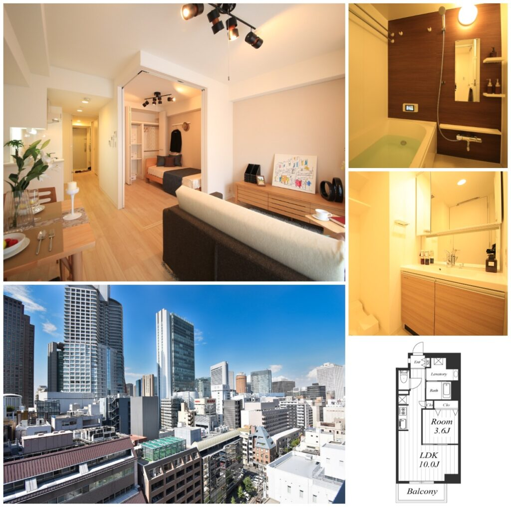 大阪梅田1LDK一房一廳高級公寓