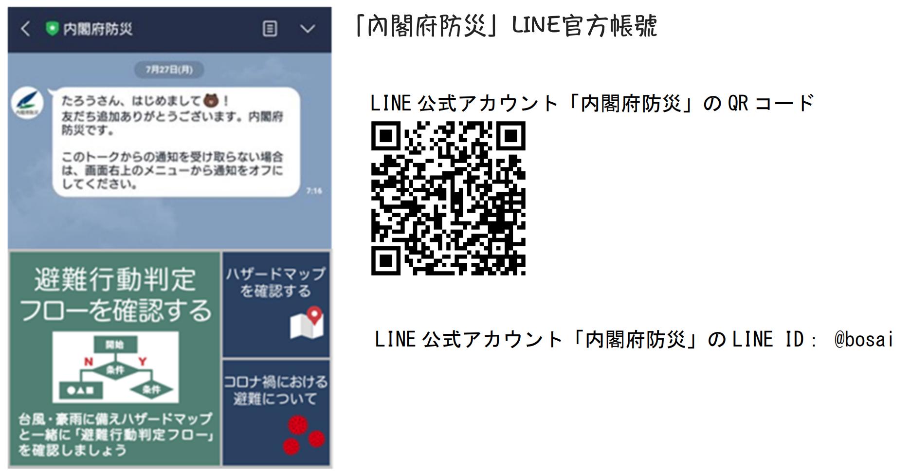 内閣府防災LINE
