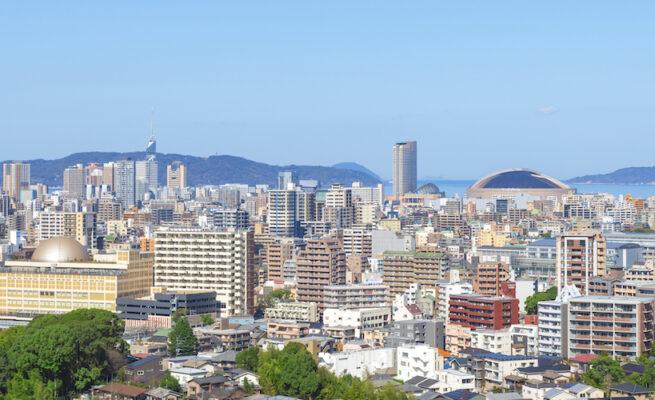 Urban landscape of Fukuoka city, Japan