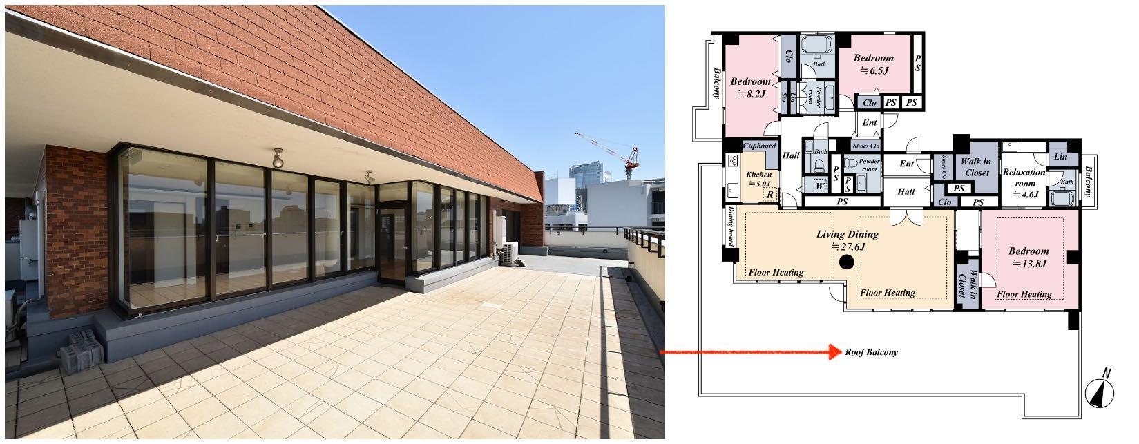 日本陽台種類-バルコニー屋頂陽台2